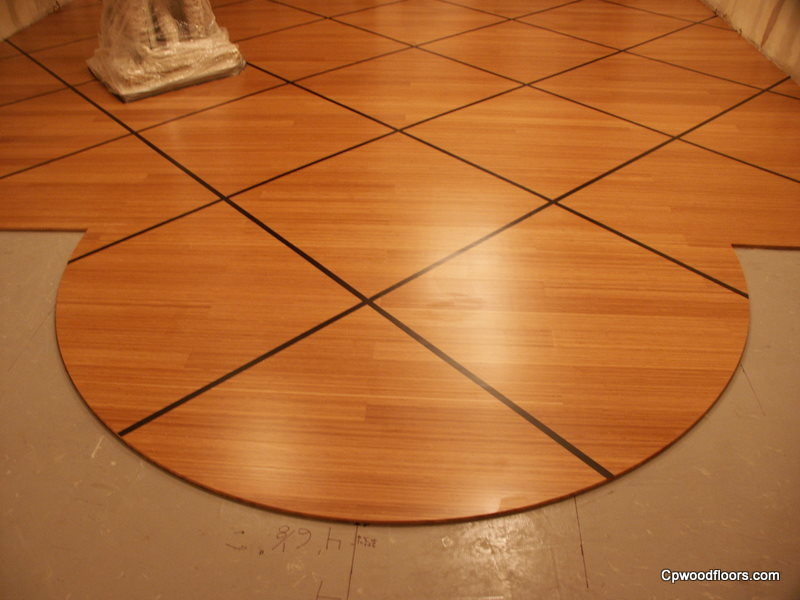 Bamboo custom floor