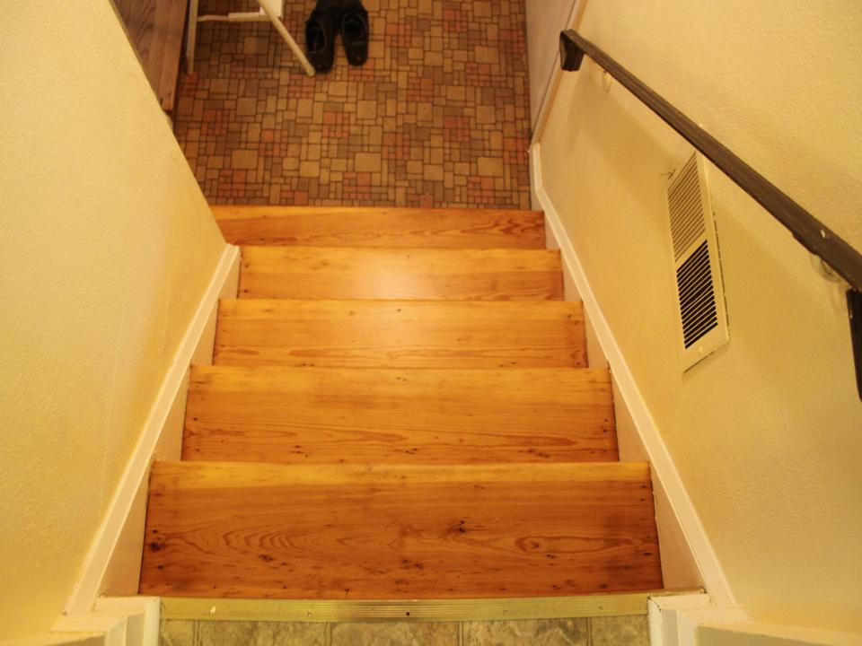 Pine Stairs Discolored After