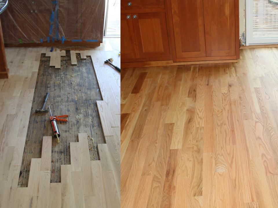 Wood floor board replacement