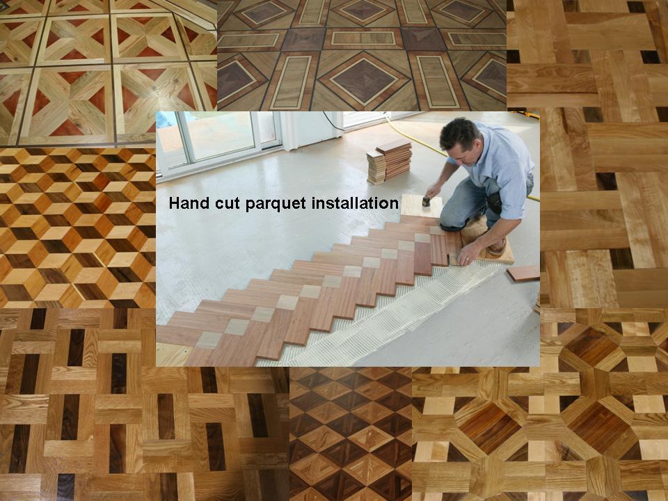 Custom hand cut parquets