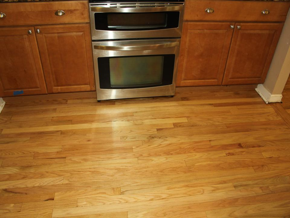 WORN KITCHEN OAK FLOOR AFTER