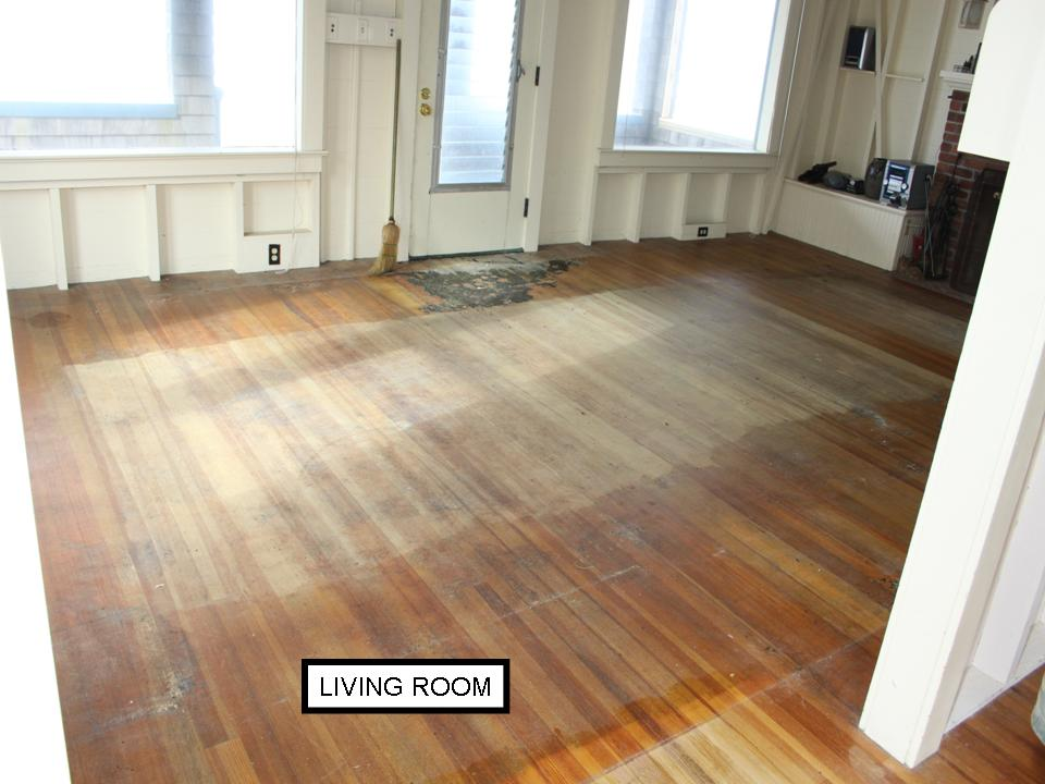 Fir living room floor before