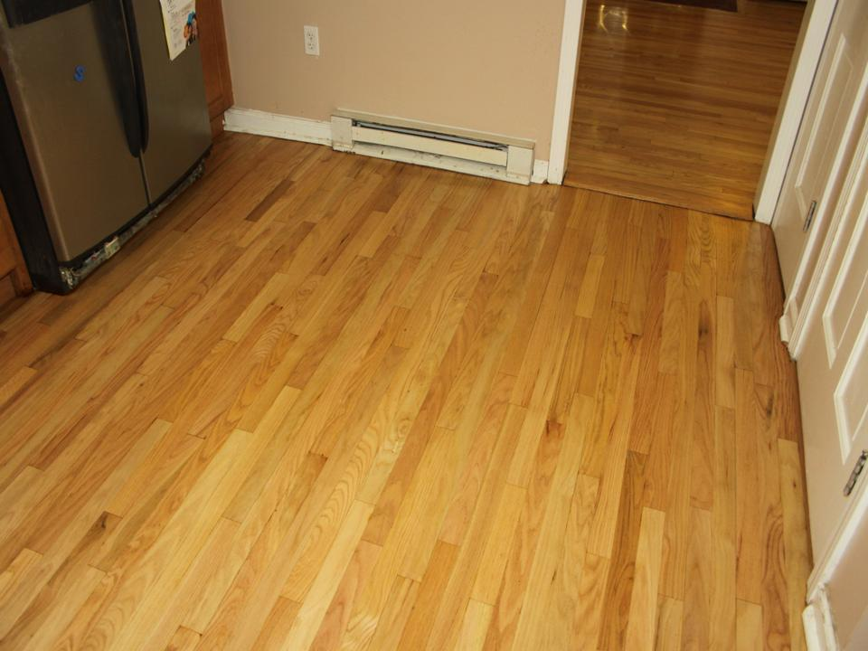 KITCHEN OAK FLOOR AFTER