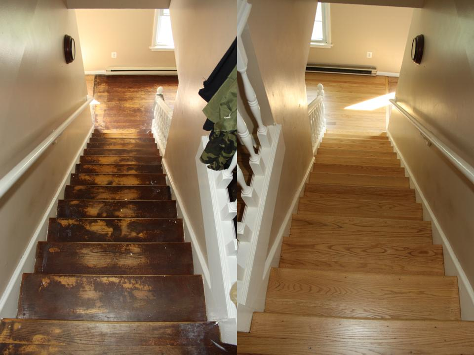 OAK STAIRS BEFORE AND AFTER