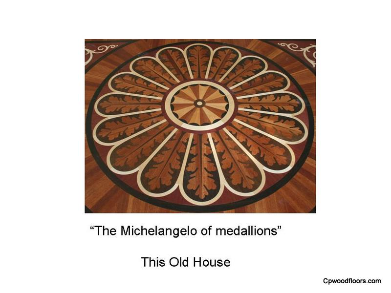 Historic reproduction wood floor medallion