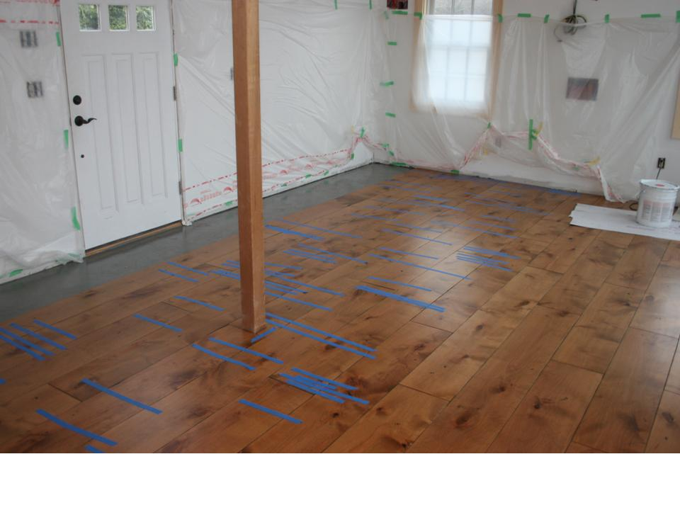 Engineered wide plank floor