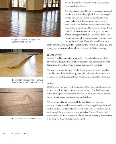 WOOD FLOOR PROBLEM AND CURES