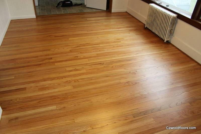 WOOD FLOOR WITH SANDING DRUM MARK RESTORED
