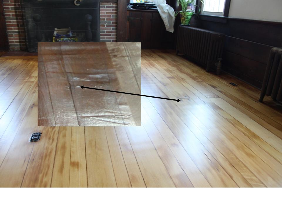 fir floor drum sander and edger damage after