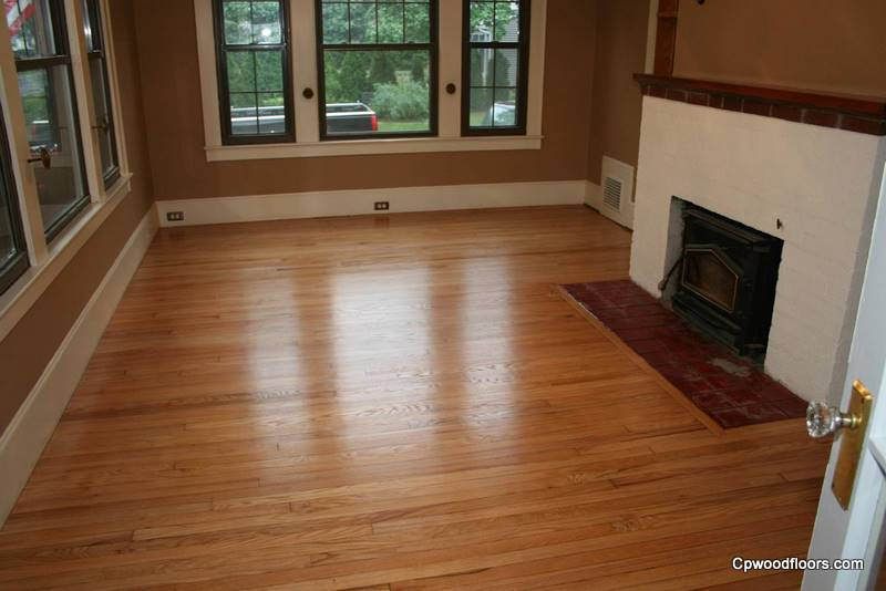 Gales Ferry CT living room wood floor stained refinished