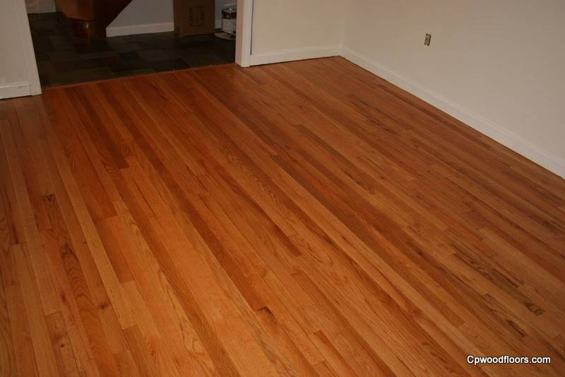 Gales Ferry red oak floor after
