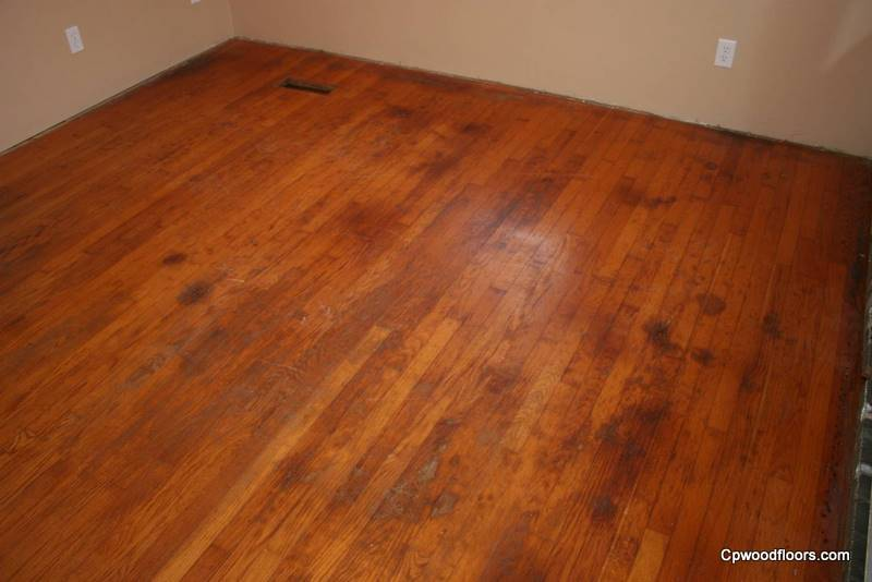 Ledyard CT dining room floor staiined