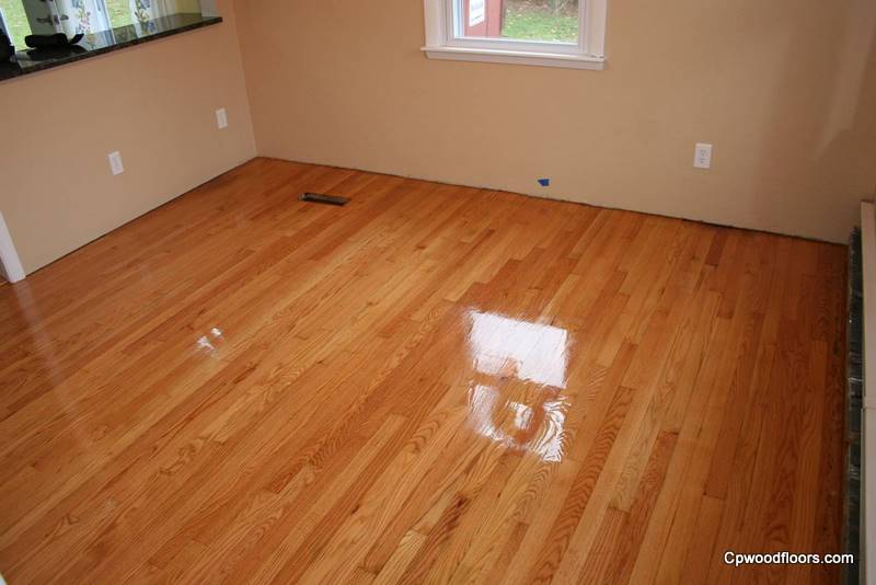 Ledyard CT dining room floor refinished