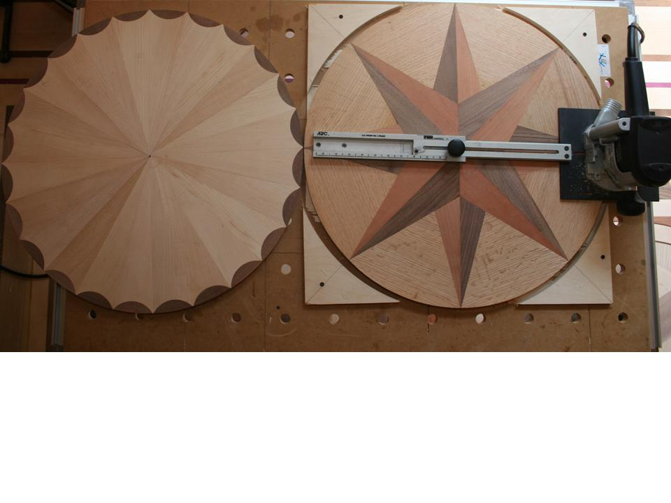 making wood floor medallions
