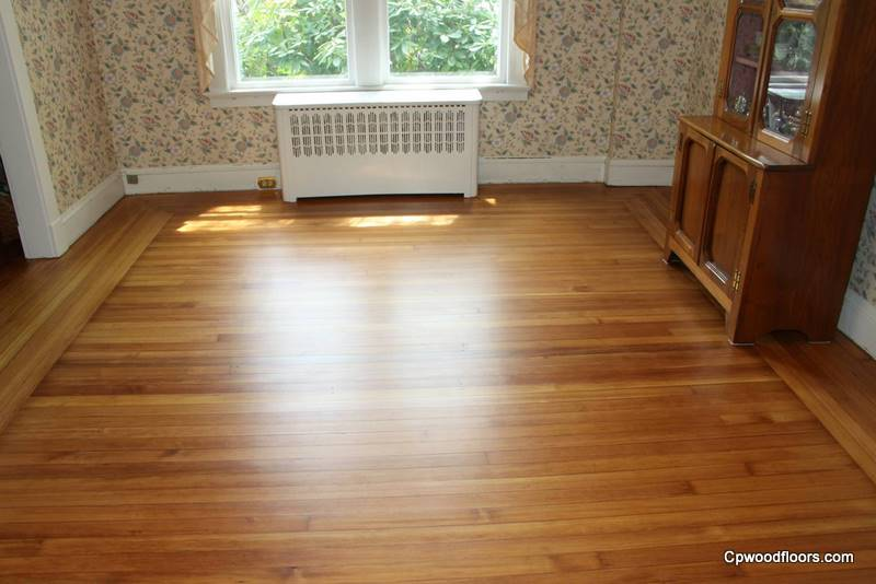 Pawcatuck CT heart pine wood floor worn restored