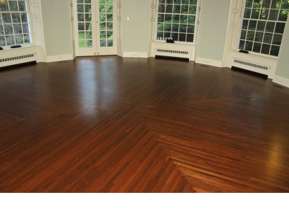 walnut round room
