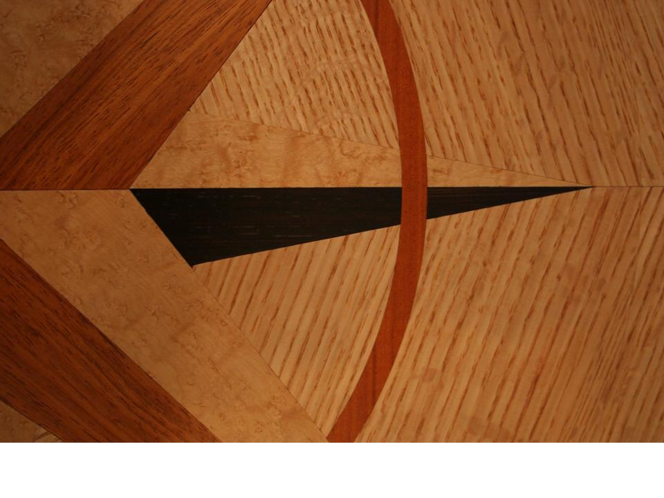 wood floor medallion close up