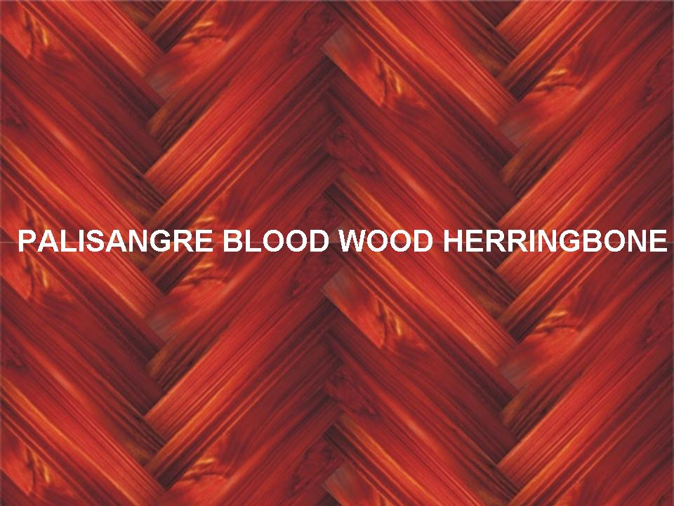 PALISANGRE BLOOD WOOD HERRINGBONE