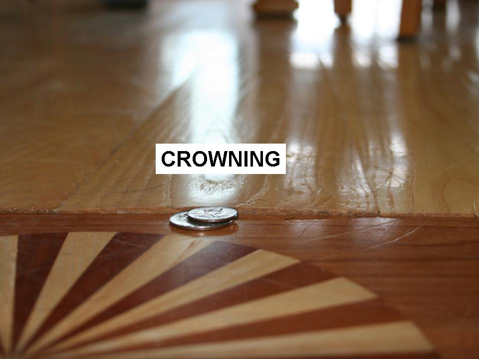 Wood floor crowning
