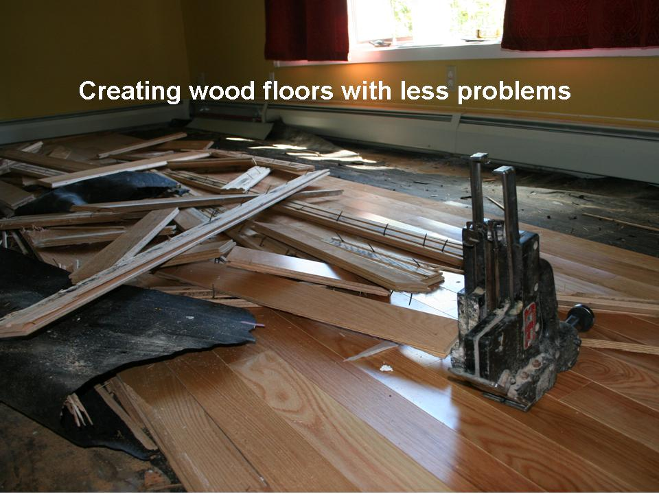 creating floor with less problems